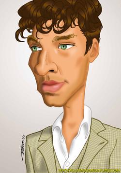 caricatura a color Benedict Cumberbatch_platerocaricaturas_josé luis platero.jpg