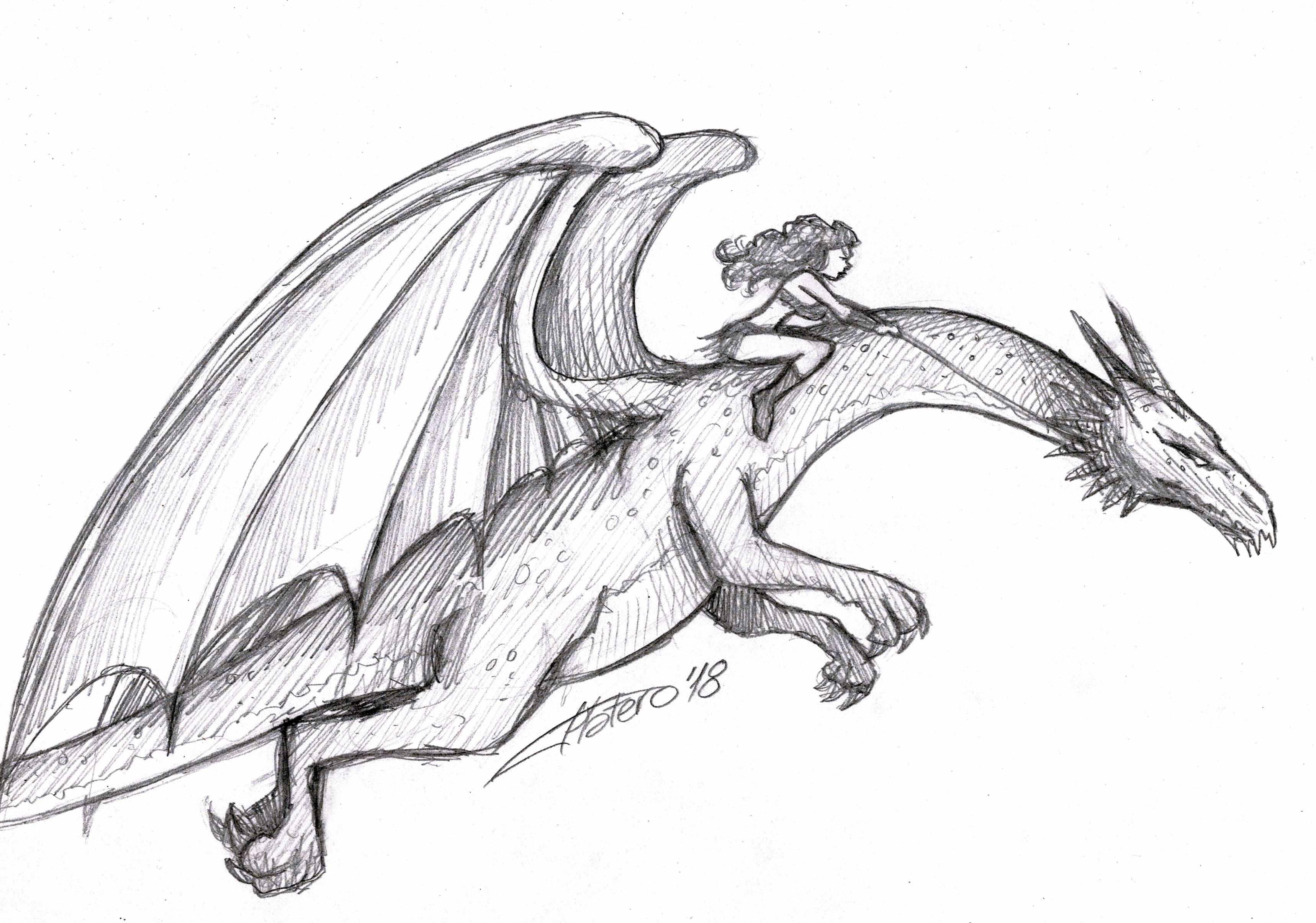Chica sobre dragón