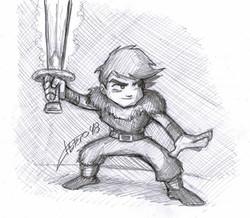 Chico con espada mágica