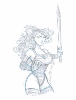 chica guerrera con espada