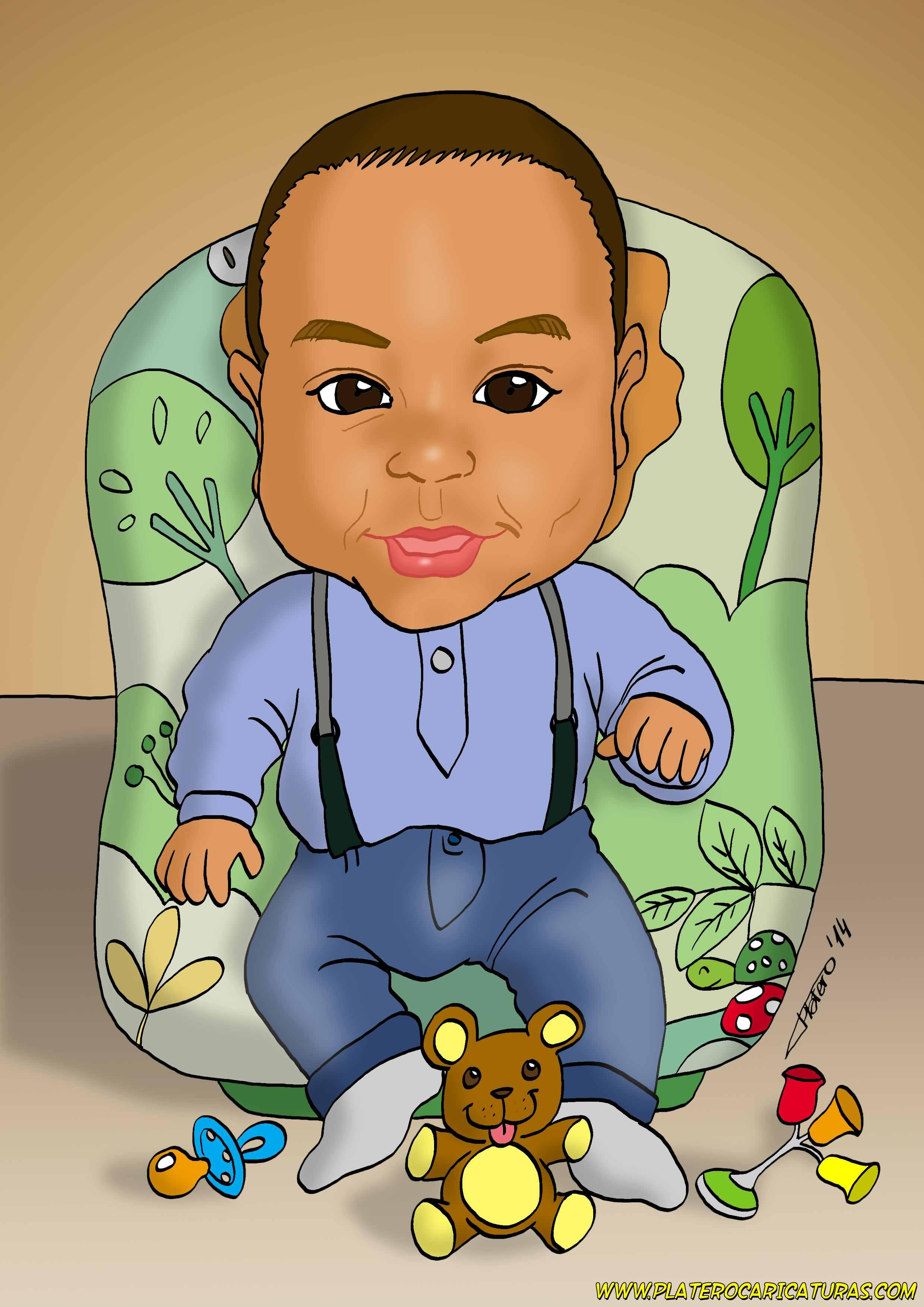 caricatura_a_color_por_encargo_personalizada_niño_elmundodeplatero_josé_luis_pla