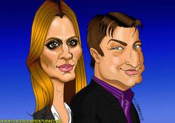 caricaturas Castle y Beckett_Nathan Fillion y Stana Katic_platerocaricaturas_jos