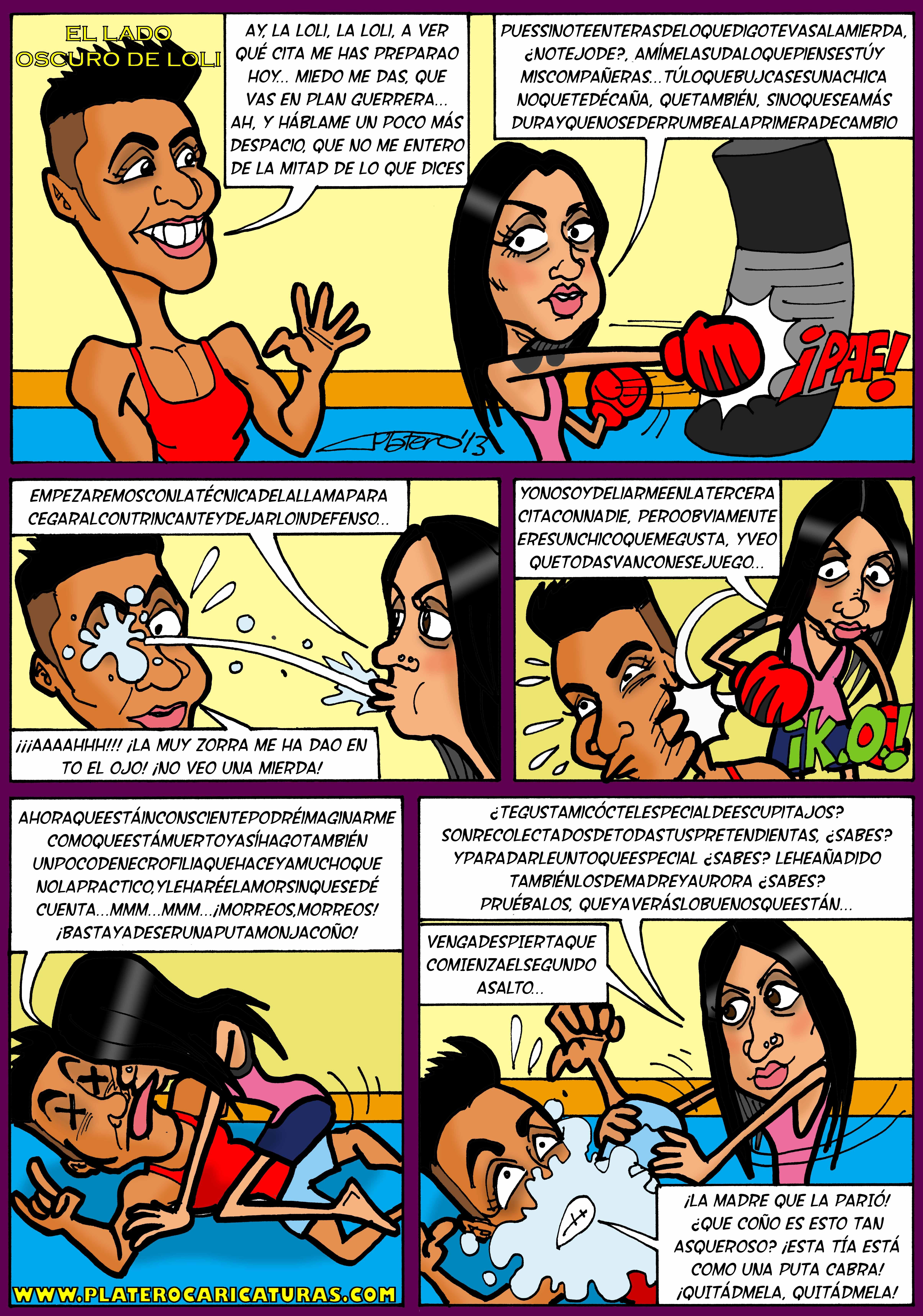 cómic loli y kiko_mujeres y hombres y viceversa_platerocaricaturas_josé luis platero