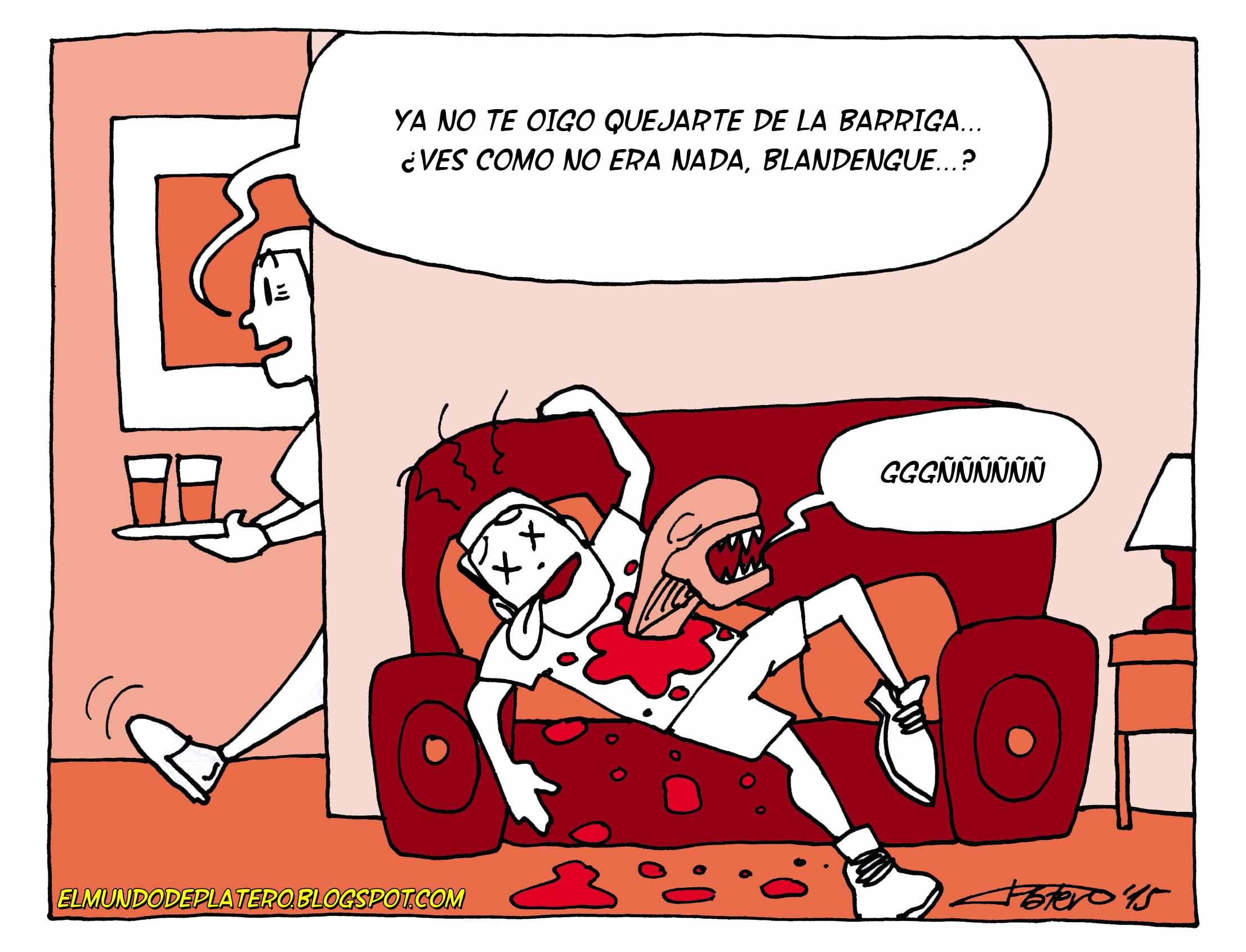 Alien_cómic_josé_luis_platero_elmundodeplatero_viñetas_humor