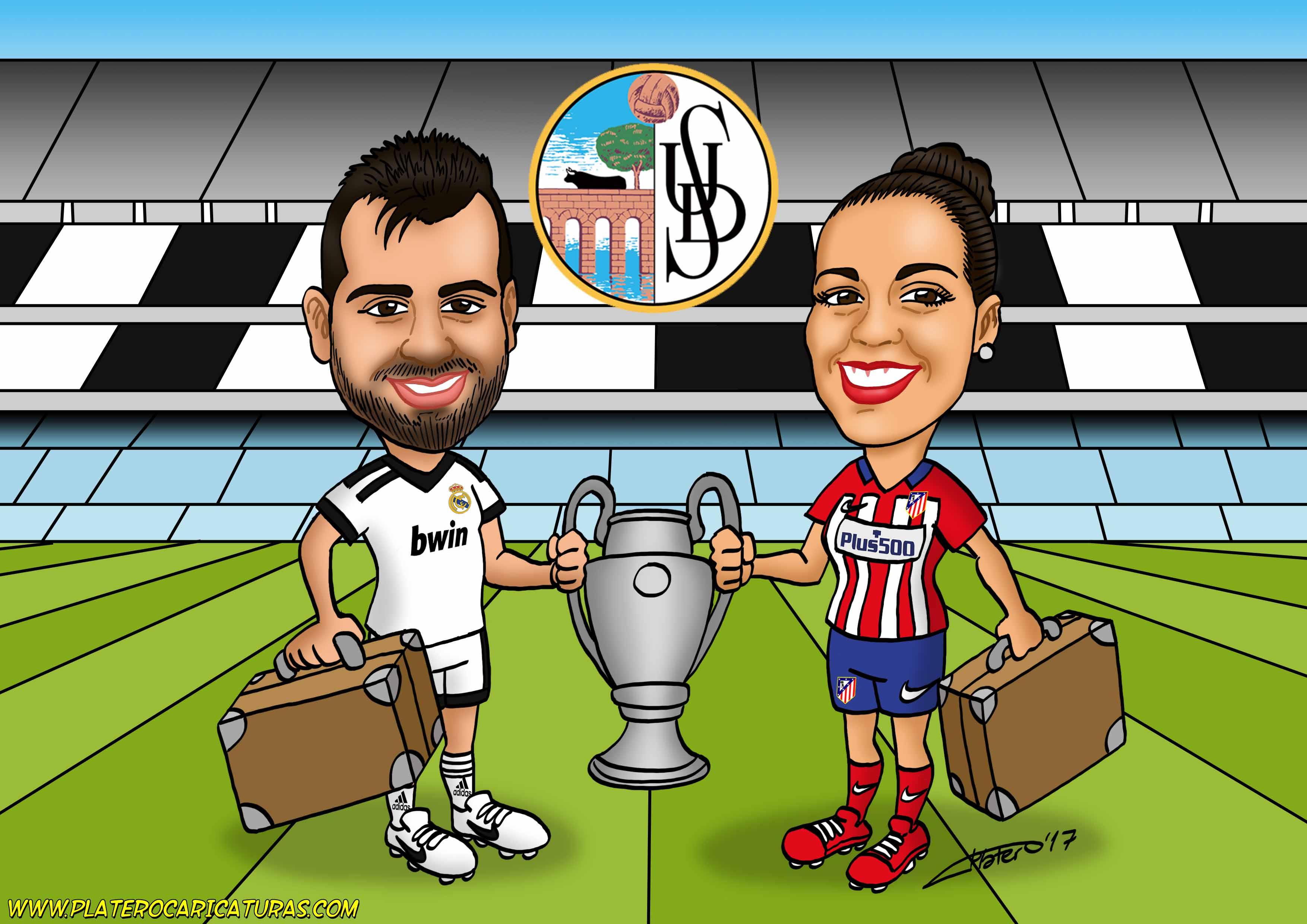 futbolistas con copa_caricatura_caricaturas_platerocaricaturas