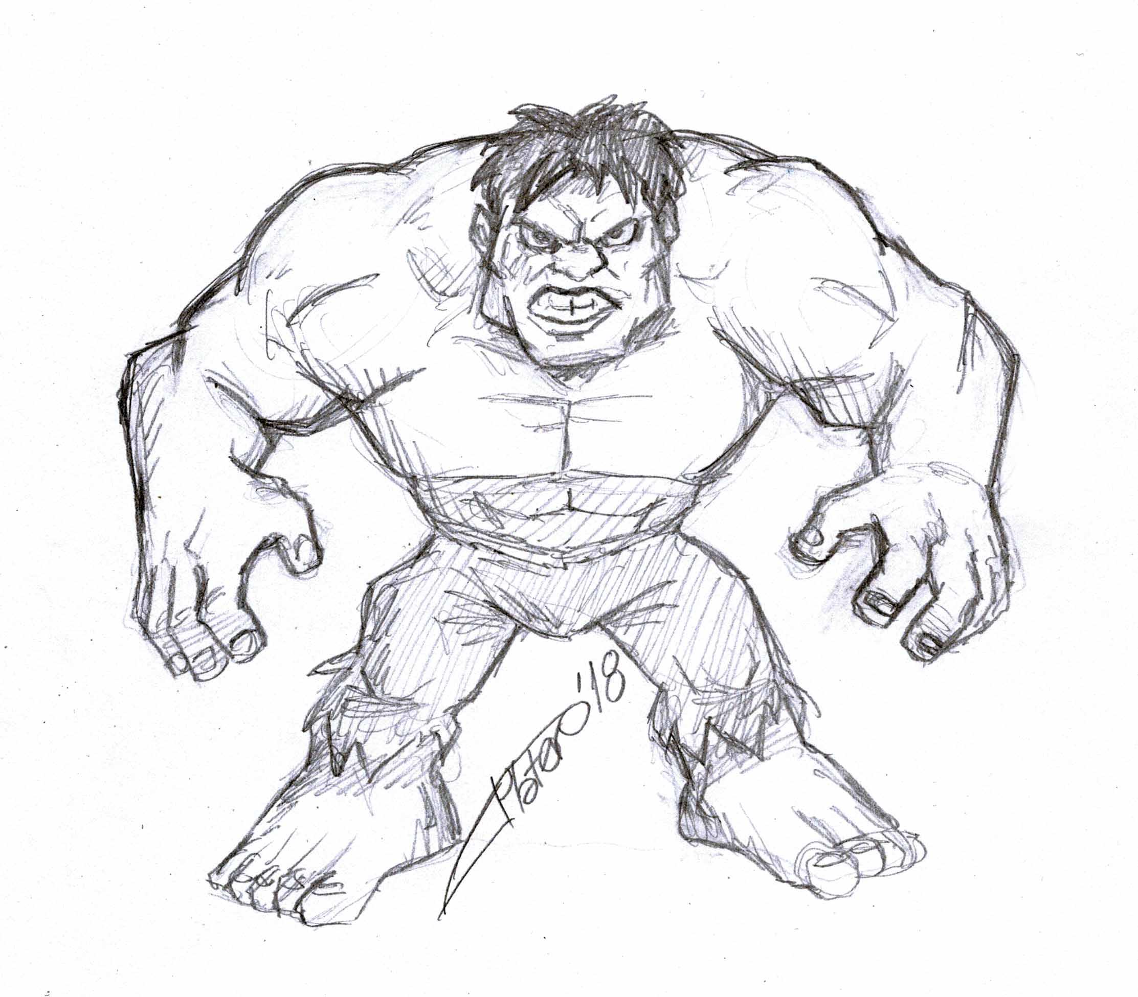 Boceto Hulk