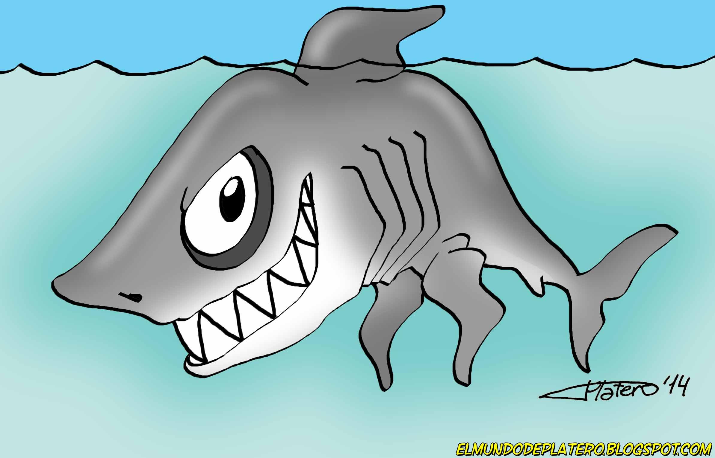ilustraciones_infantiles_tiburón_dibujos_infantiles_por_encargo_elmundodeplatero