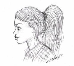 chica_de_perfil_con_coleta_jose_luis_platero_sketch_lapiz