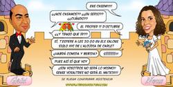 1_caricaturas_a_color_por_encargo_personalizadas_invitación_novios_boda_castillo