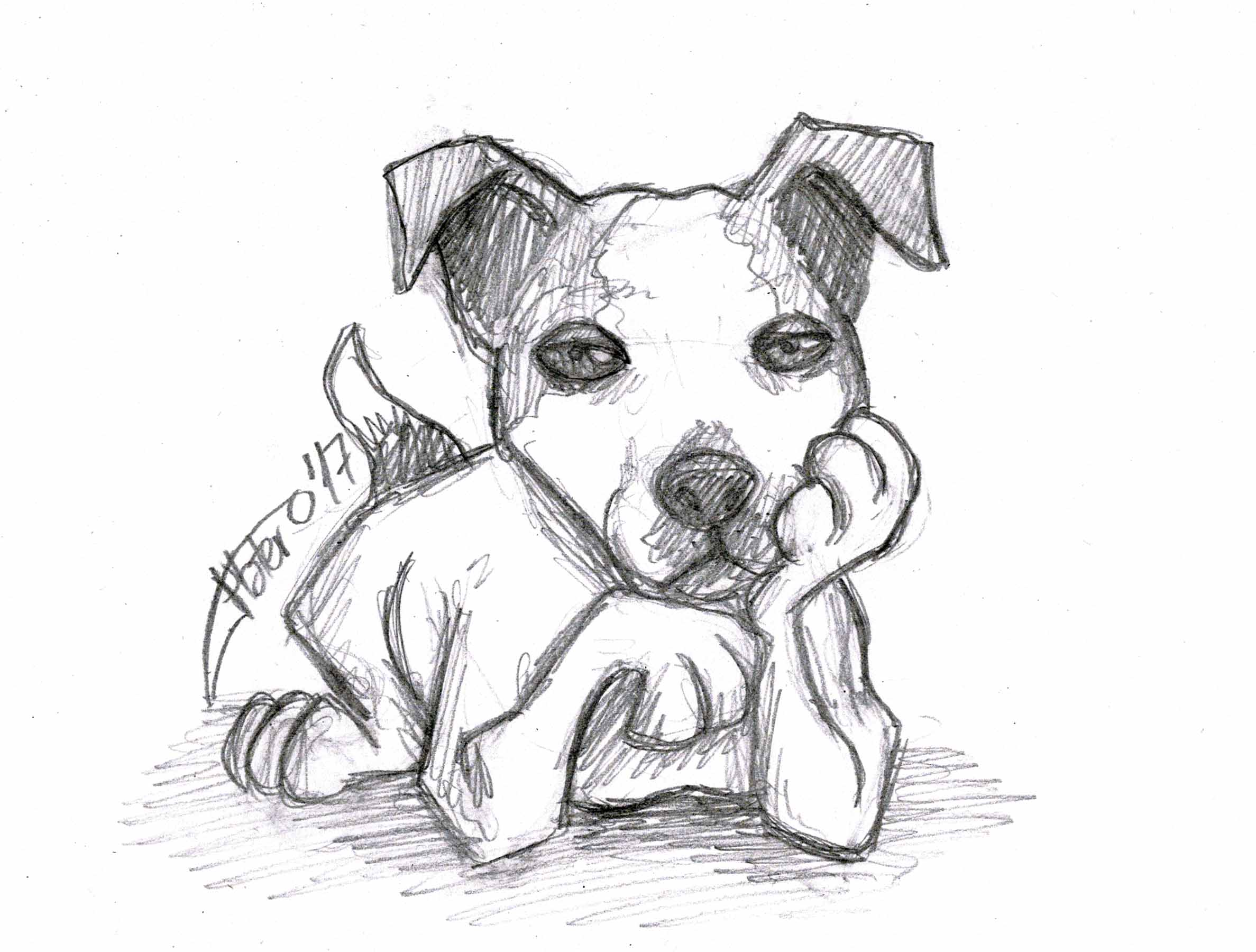 jack_russell_perro_dog_sketch_caricature_jose_luis_platero