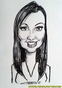 caricaturas_rápidas_a_carboncillo_chica_joven_morena_platerocaricaturas_josé_lui