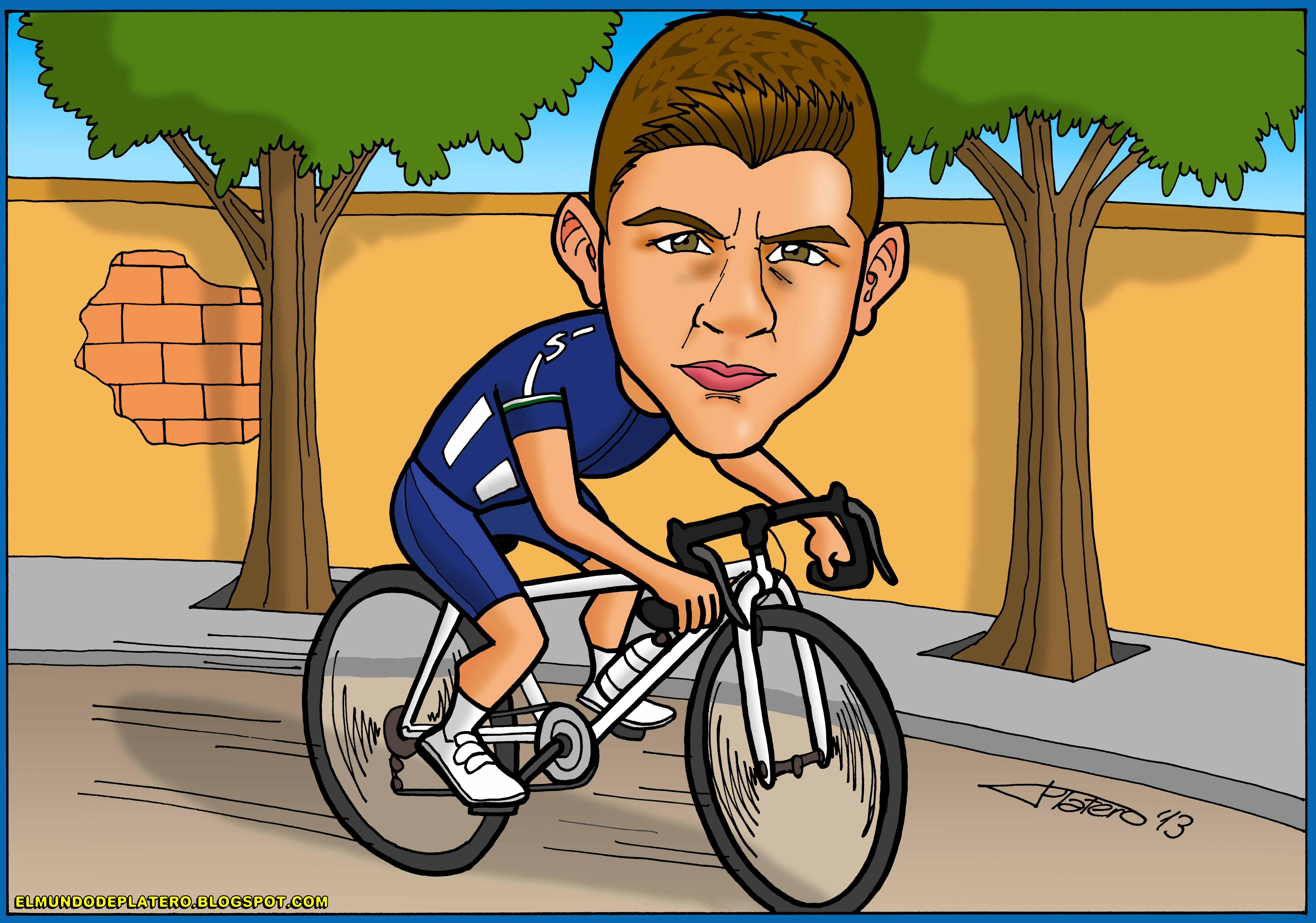 caricaturas a color por encargo personalizadas_ciclista1_elmundodeplatero copia