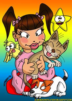 niña_con_animales_ilustraciones_infantiles_dibujos_infantiles_por_encargo_elmund