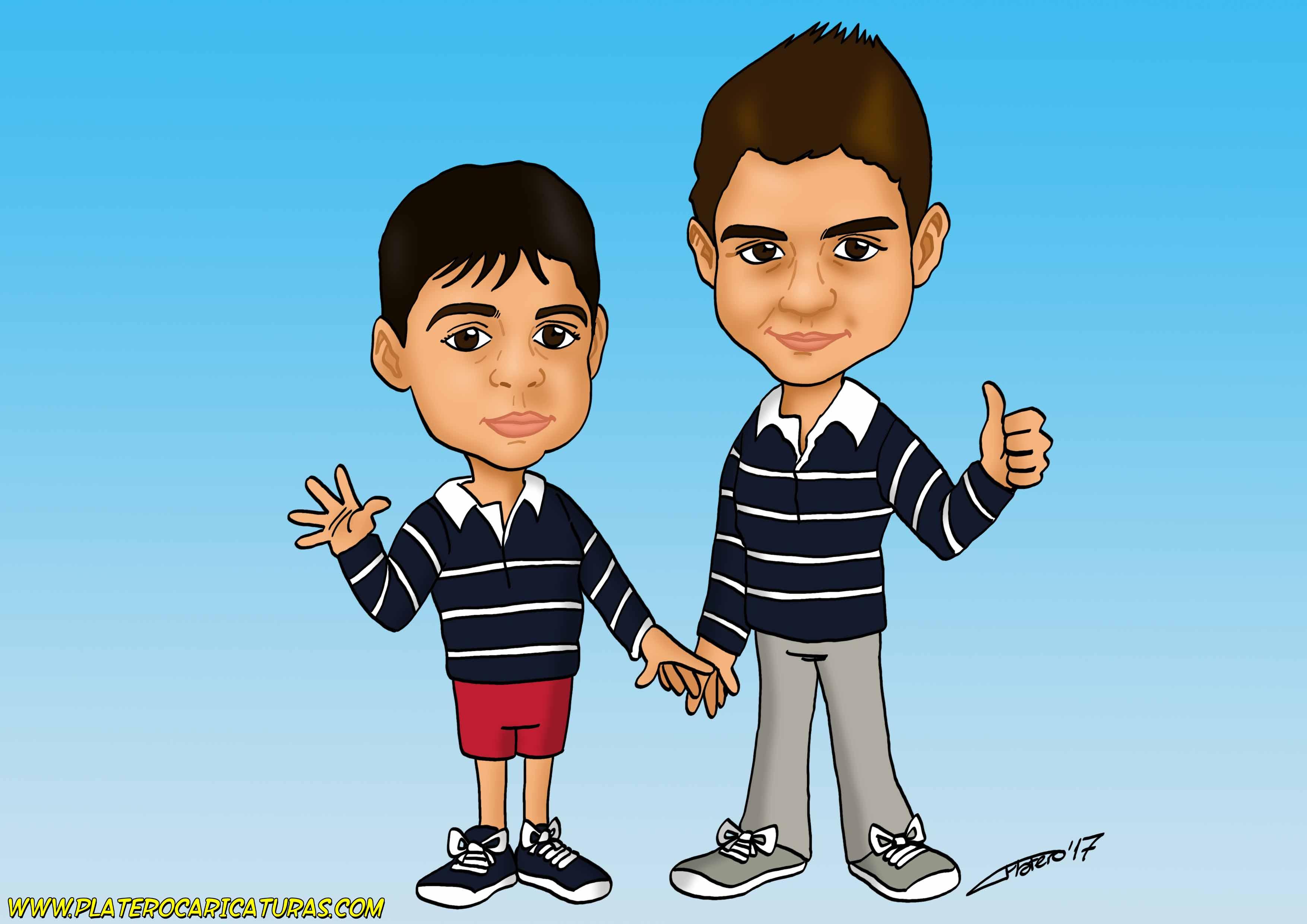 caricaturas_a_color_por_encargo_personalizadas_niños_platerocaricaturas_elmundodeplatero_josé_luis_p