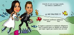 02_caricaturas_a_color_por_encargo_personalizadas_tarjeta_de_boda_novios_platerocaricaturas_elmundod