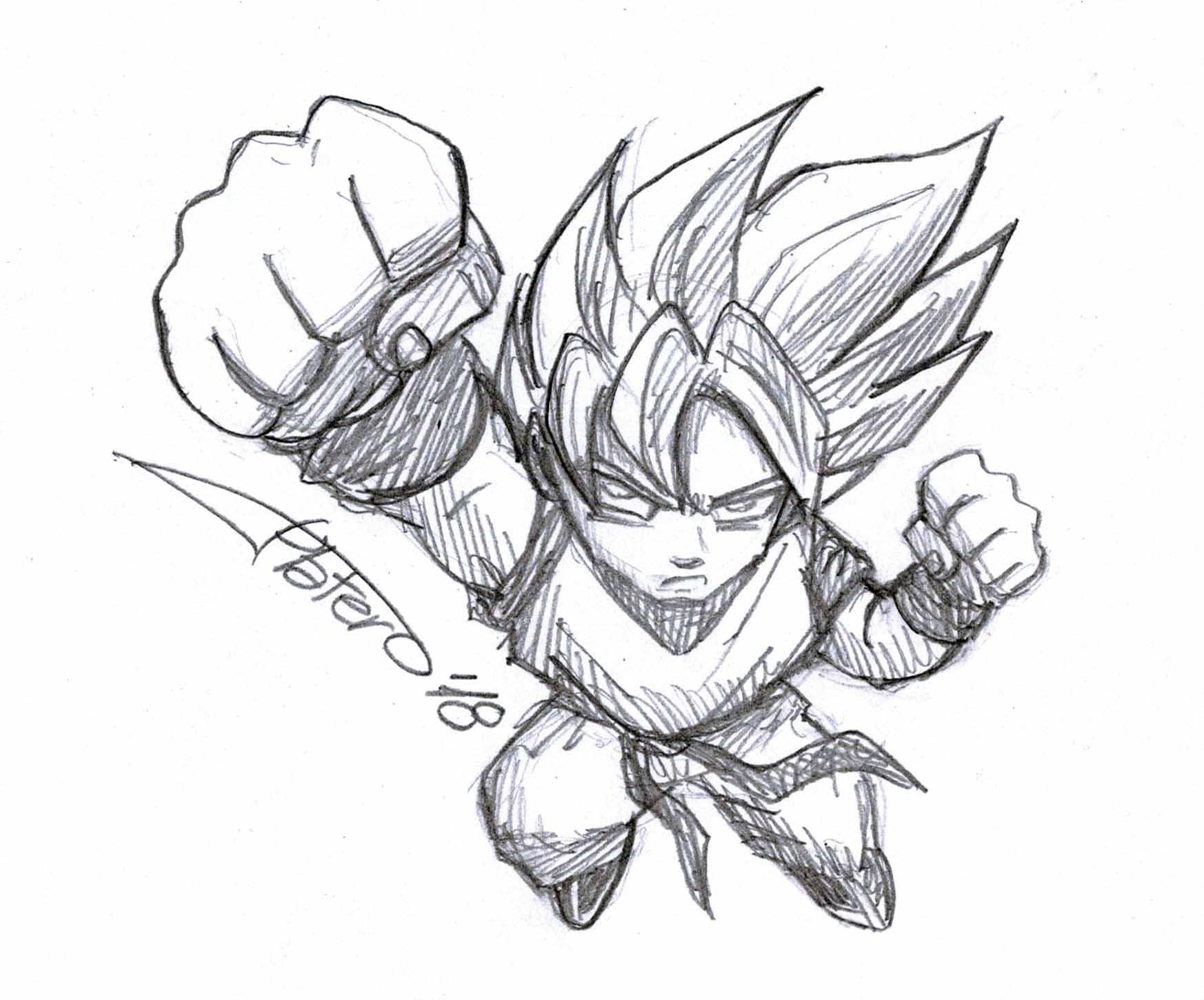 Boceto Son Goku
