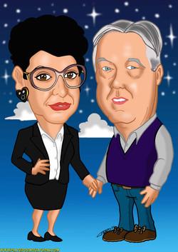 caricaturas a color por encargo personalizadas_abuelos con cielo_platerocaricatu