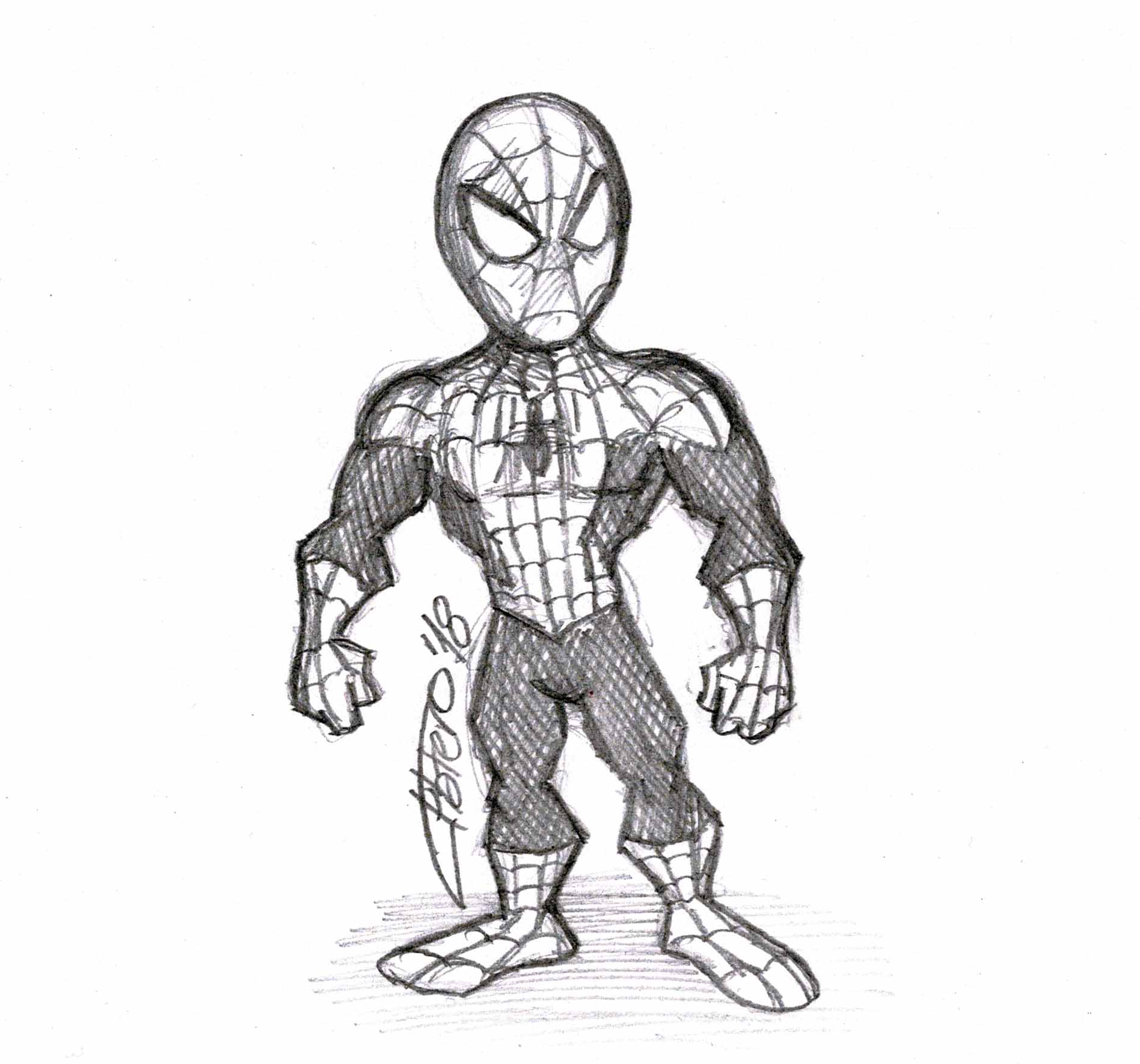 spiderman_jose_luis_platero_sketch_dibujo_caricatura_cartoon