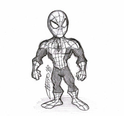 spiderman_jose_luis_platero_sketch_dibujo_caricatura_cartoon