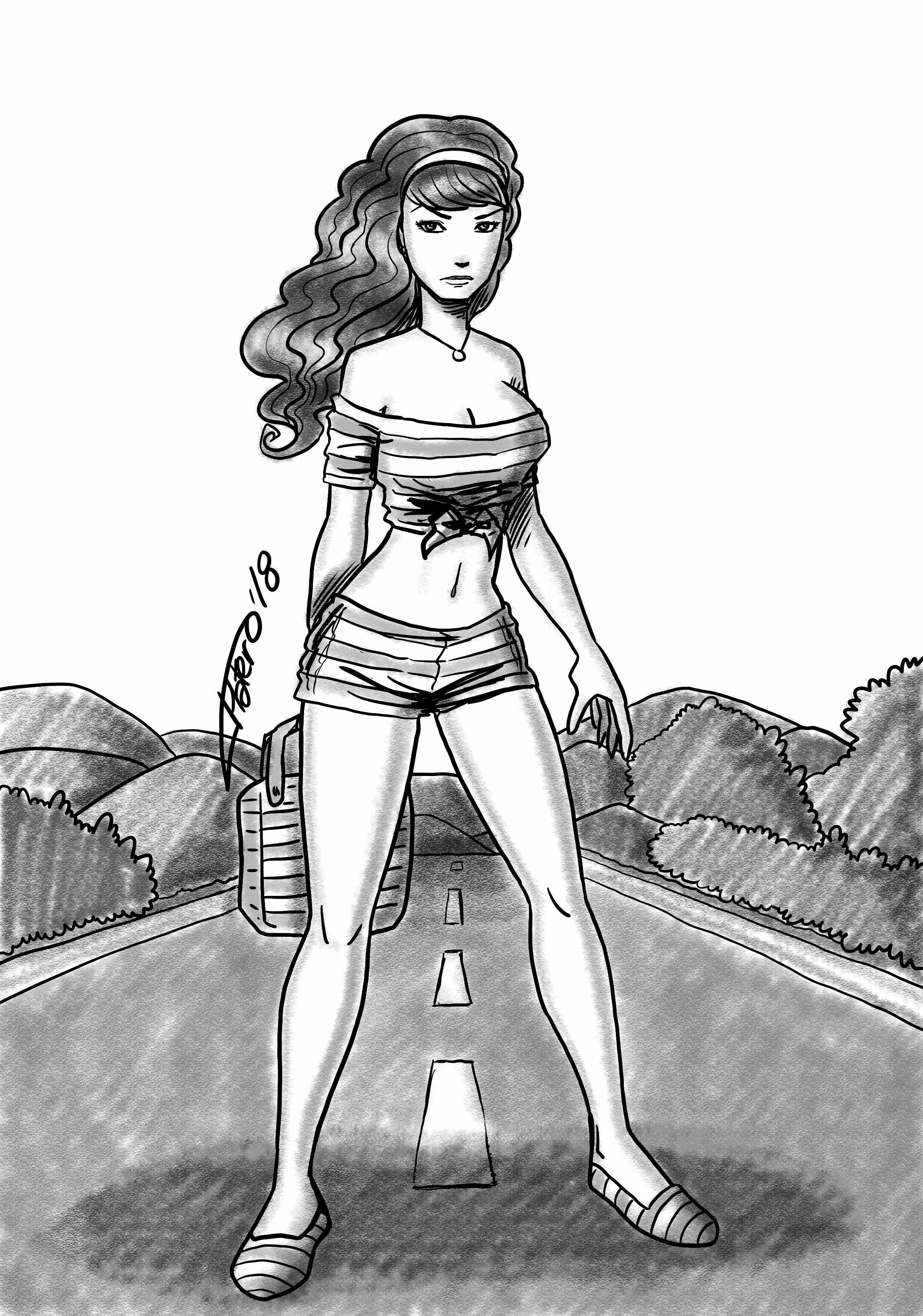 02chica_en_la_carretera_jose_luis_platero_comic_ilustracion_chica_girl