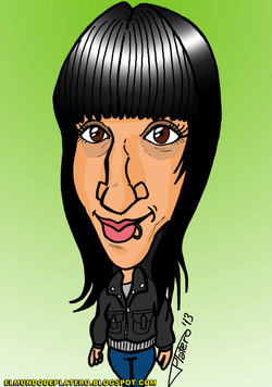 caricaturas a color por encargo_chica morena2_elmundodeplatero_josé luis platero
