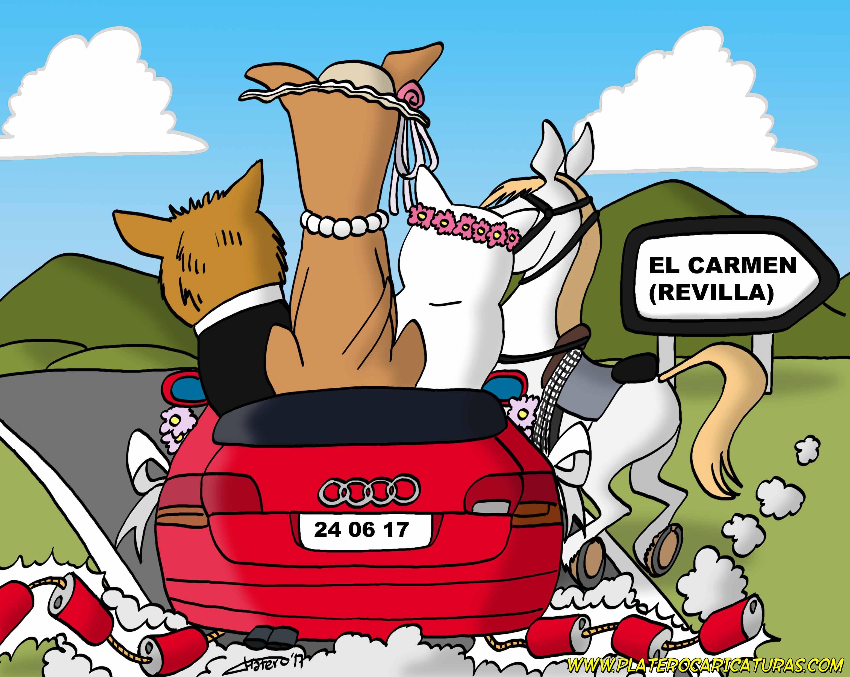 02_tarjeta boda animales en coche_parte trasera_platerocaricaturas