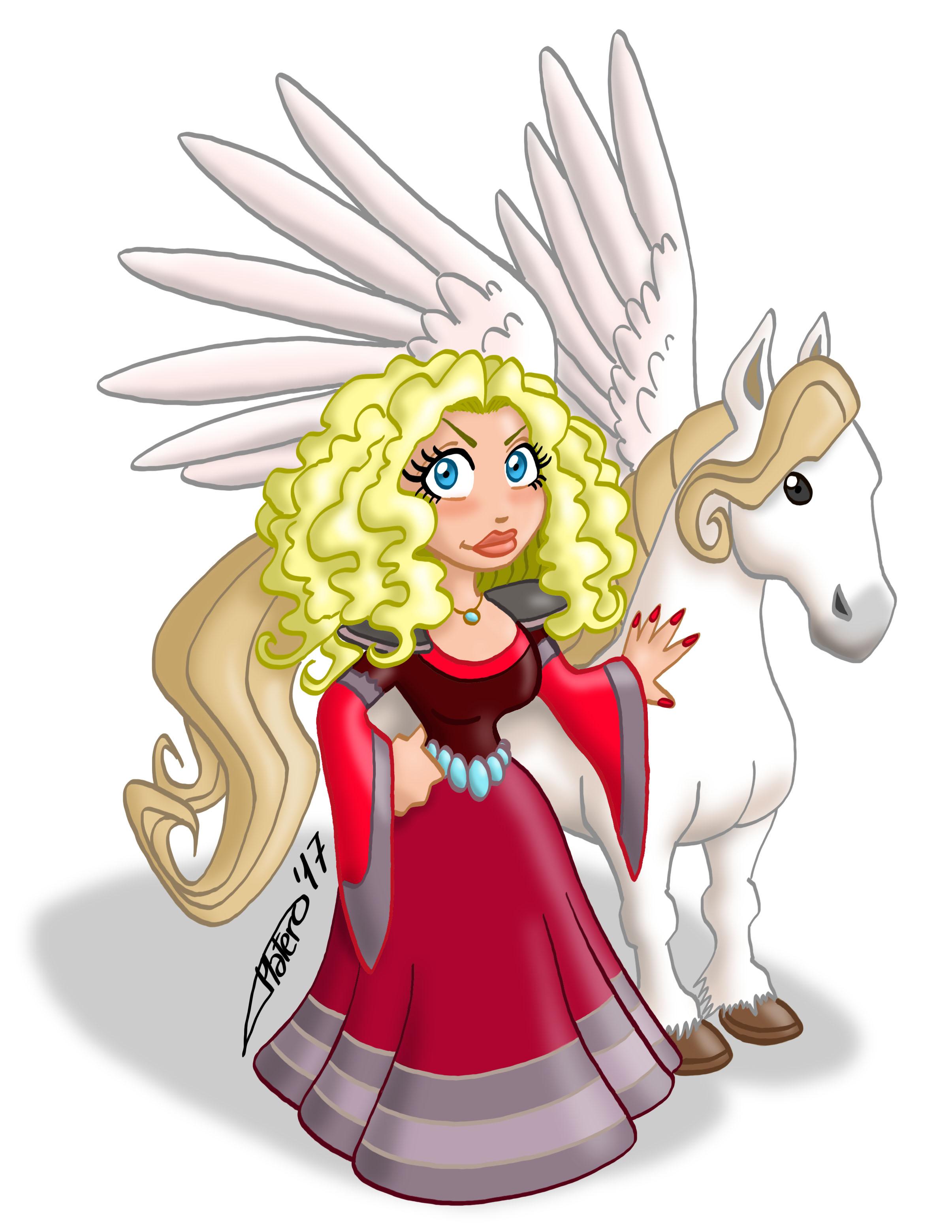Princesa con caballo Pegaso