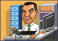 caricaturas a color personalizadas por encargo_banquero_elmundodeplatero_josé lu
