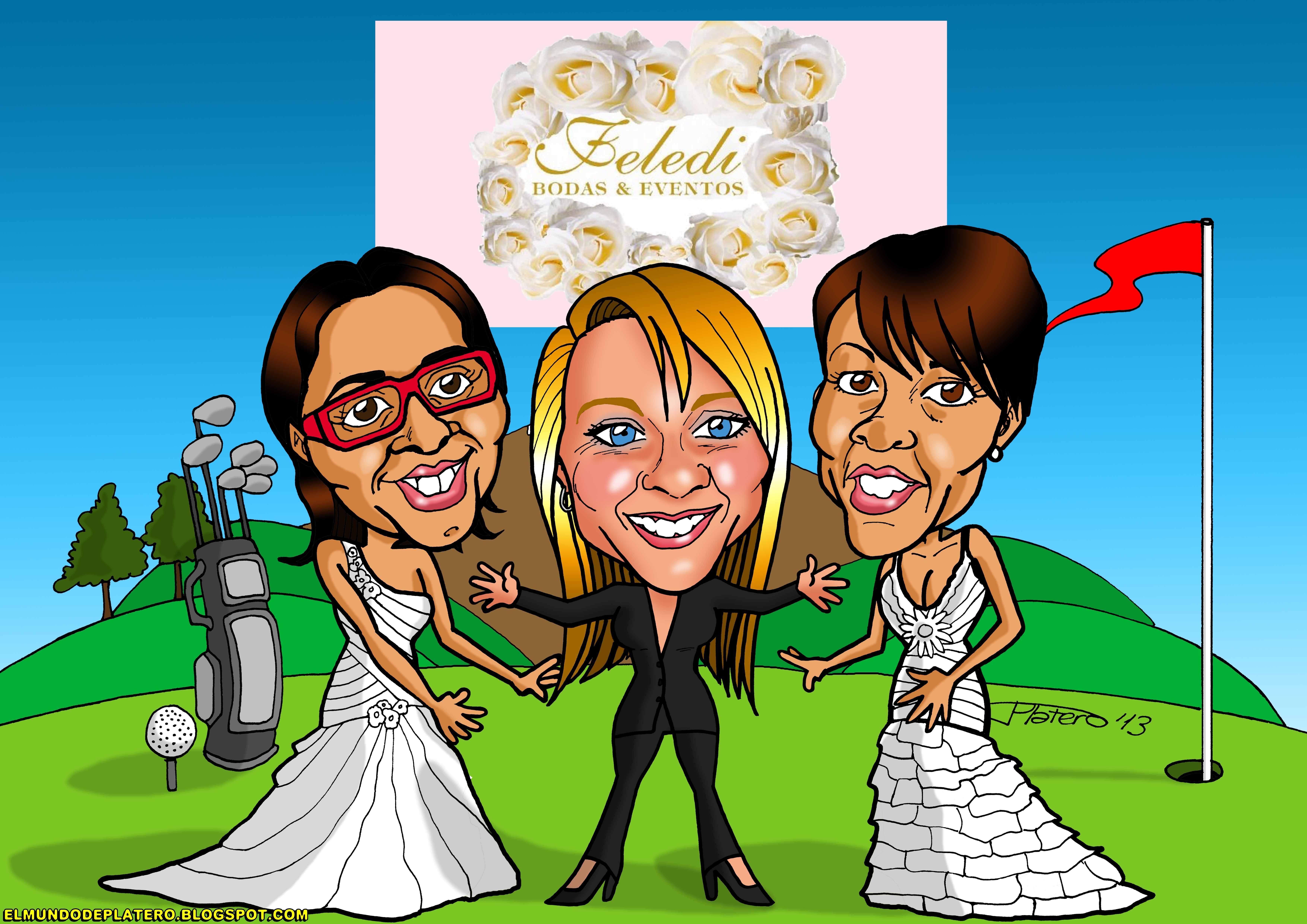 caricaturas a color personalizadas_invitación boda_elmundodeplatero_josé luis pl