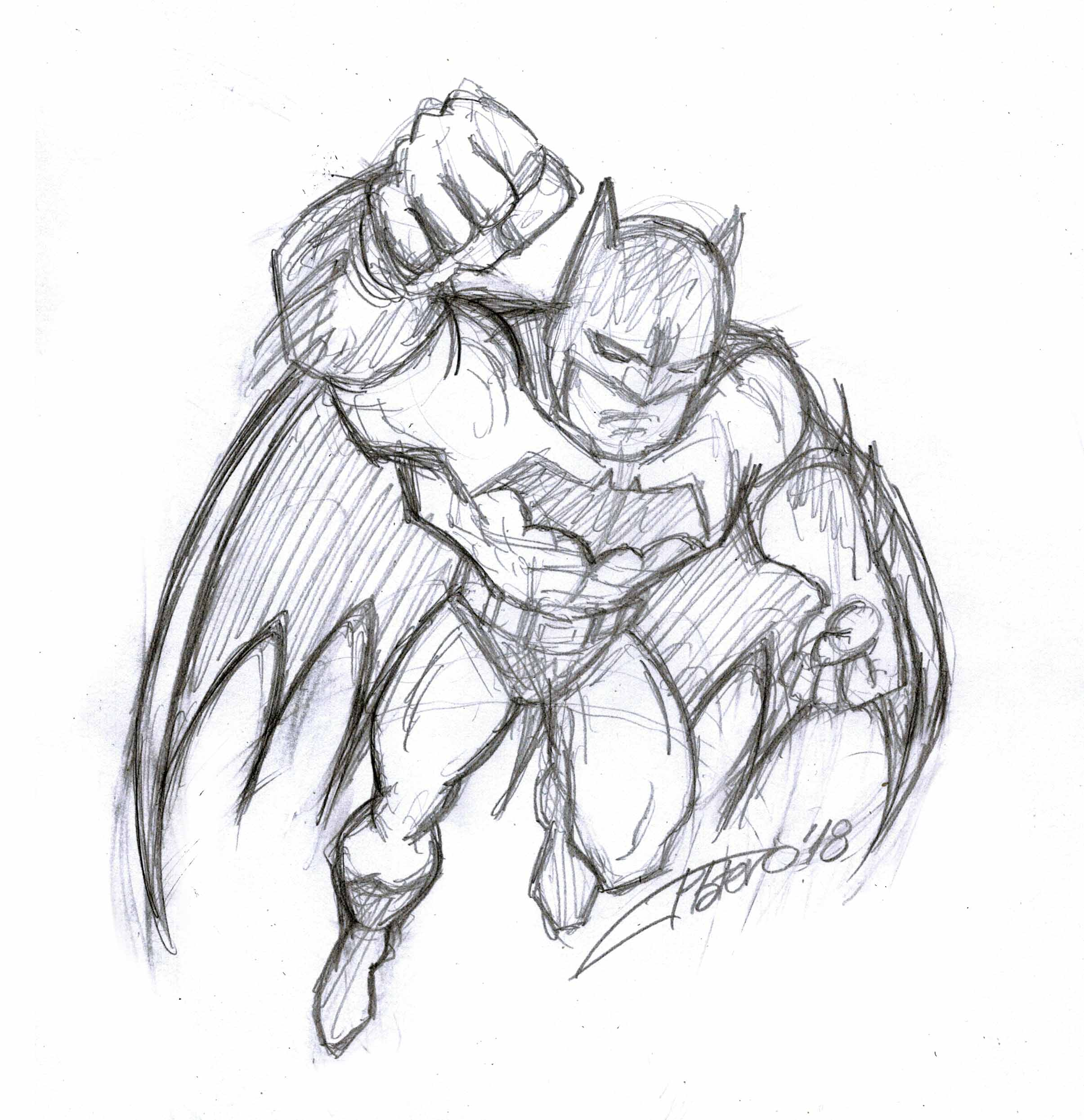 Boceto Batman