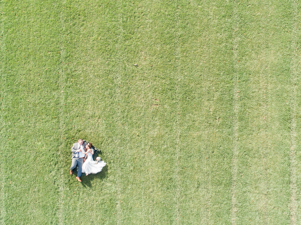 Aerial of Husband & Wife