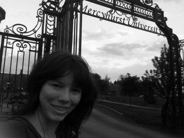 At the gates of Mercyhurst Universit
