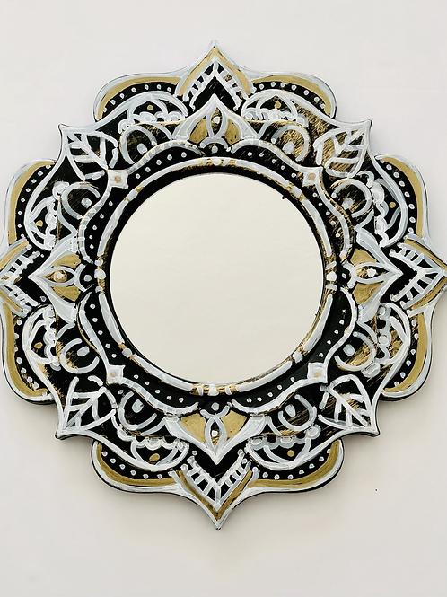 Handpainted Mandala Mirror
