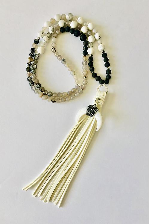 Courage 108 Mala Meditation Necklace