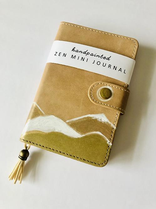 Zen Mini Journal - Handpainted