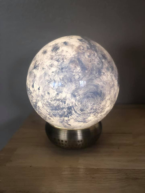 Handpainted Moon Lamp