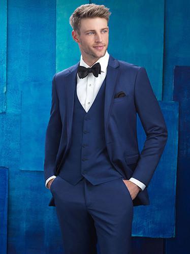 Slim Fit Indigo Blue Wedding Suit