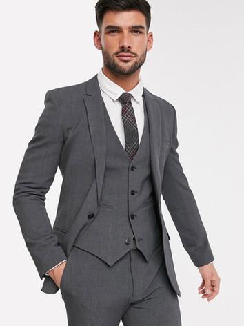 Charcoal Slim Fit Wedding Suit