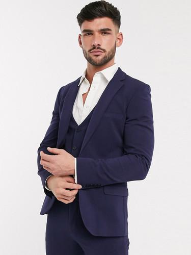 Slim Fit Blue Wedding Suit