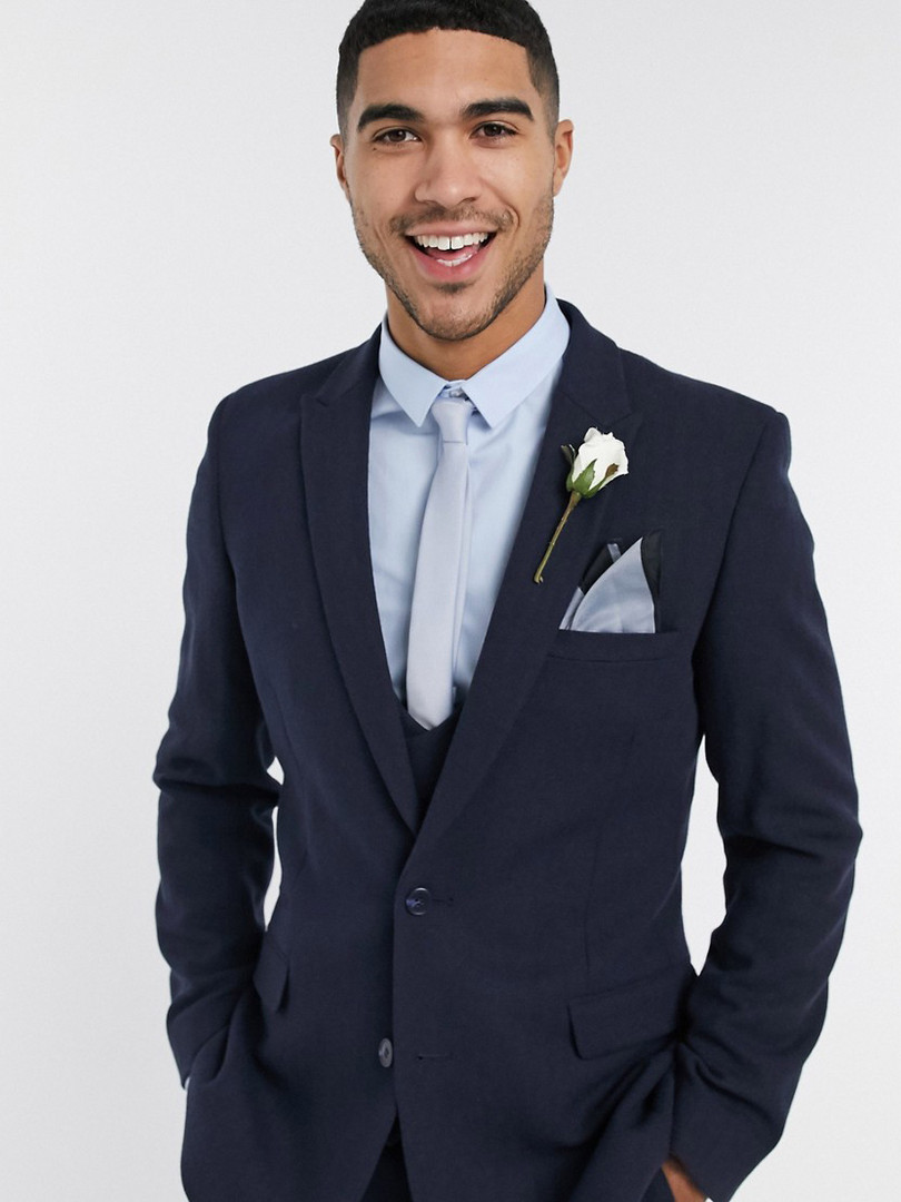 Slim Fit Navy Wedding Suit