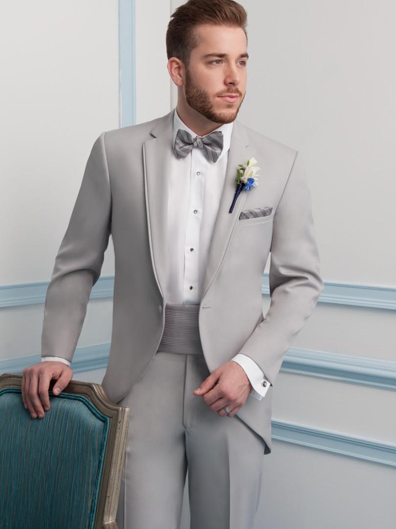 Slim Fit Light Gray Tuxedo