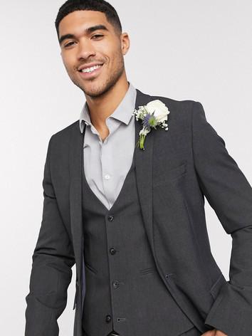 Slim Fit Gray Wedding Suit