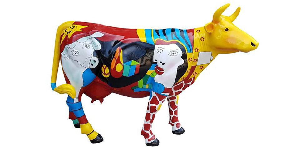 Animaux en résine Suisse - Vache Picasso