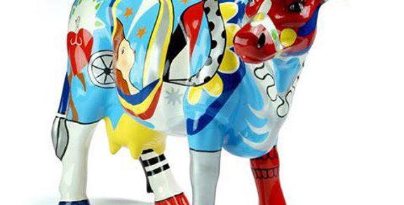Animaux en résine - Vache multicolore