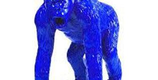 Animaux en résine Suisse - Gorille bleu