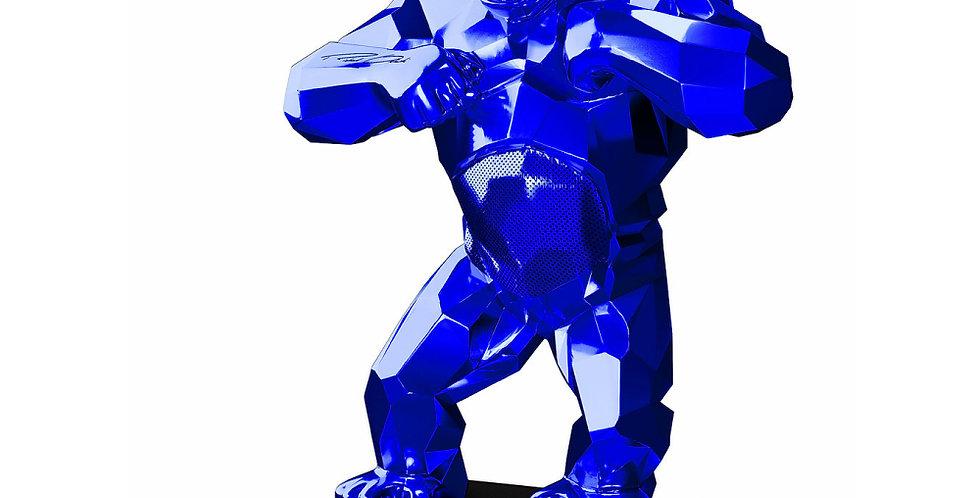 KiwiKong Bleu Chrome - enceinte connectée signée Richard Orlinski