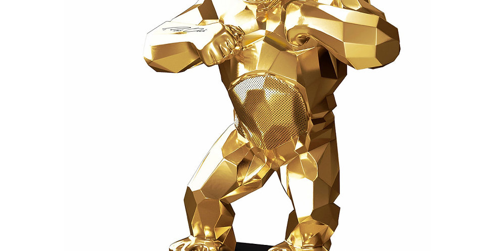 KiwiKong Gold - enceinte connectée signée Richard Orlinski
