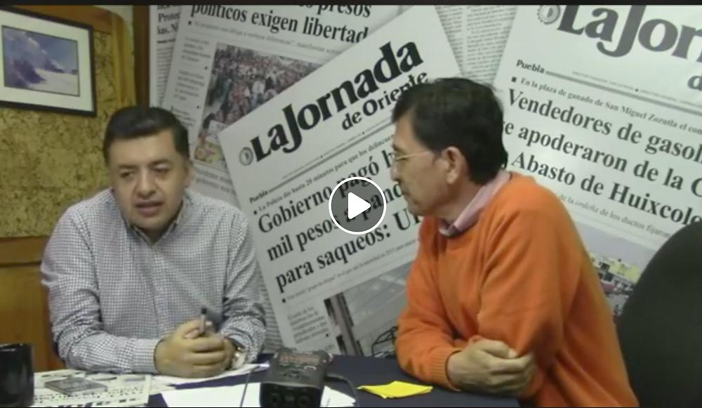 Ociel Mora en entrevista en La Jornada de Oriente