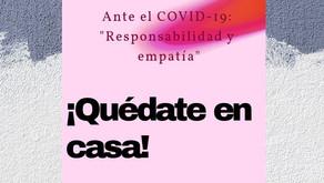 """Ante el COVID-19: """"Responsabilidad y empatía"""""""