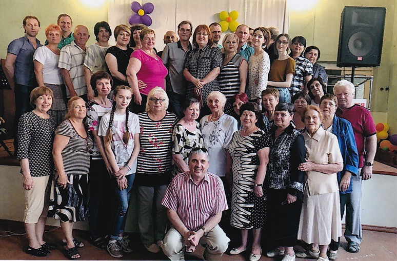 Church family in Krivoy Rog, Ukraine, a larger industrial city south of the capital, Kiev